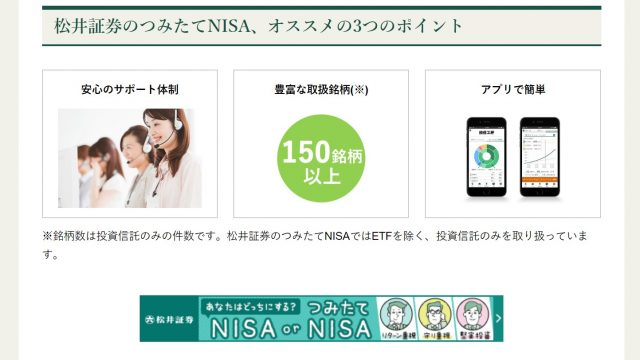 松井証券 積立NISA